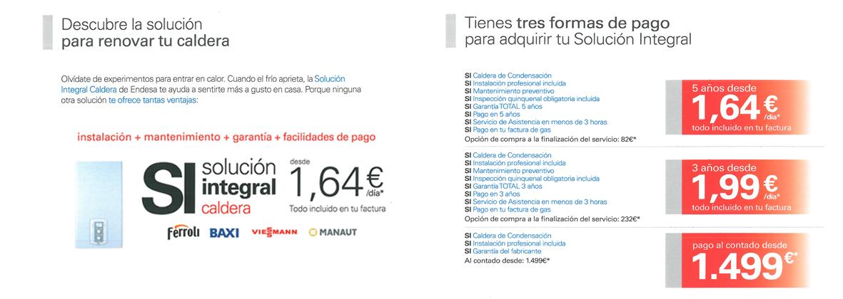 Solución Integral Endesa para Calderas. Instalaciones Lamar, Punto de Servicio Endesa en Rivas Vaciamadrid (Madrid)